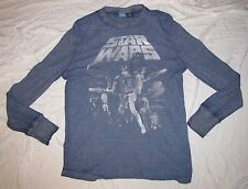 XL 46/48 STAR WARS MENS T-SHIRT NEW HOPE HAN SOLO LUKE SKYWALKER LONG SLEEVE TEE