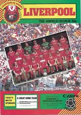 Football Programme>LIVERPOOL v NEWCASTLE UNITED Apr 1985