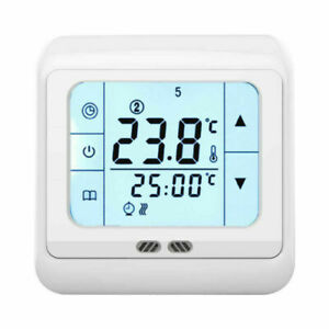 Touch Screen floor underfloor thermostat for water & electric heating systems HY