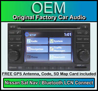 Nissan Note Sat Nav car stereo, LCN Connect CD player radio, USB AUX compatible