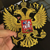 Crown Eagle PATCH RUSSIAN EMBLEM IRON ON EMBROIDERED Applique Sewing Fabric DIY