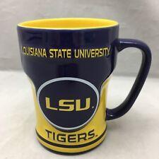 LSU Tigers Coffee Mug NCAA Louisiana State University Cup Purple Gold Indented