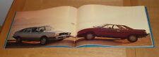 Lancia Gamma Berlina & Gran Turismo Brochure 1978 - UK Market