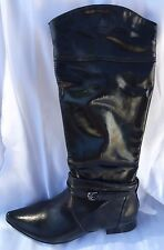 Ladies Size 8 Black, Flat Boots