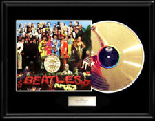 THE BEATLES SGT. PEPPER  RARE FRAMED LP GOLD METALIZED RECORD DISPLAY NON RIAA