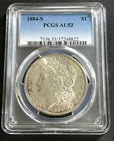 1884-S PCGS AU53  Key Date Morgan Silver Dollar