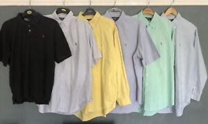 Ralph Lauren Mens Shirt Bundle (1 Polo, 5 Shirts) All Adult Sizes