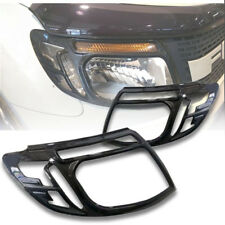 COVER FRONT LAMP HEADLIGHT CARBON FIT FOR FORD RANGER T6 MK1 PX1 2012 13 14