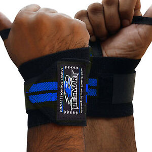 Weight Lifting Wrist Wraps Gym Fitness Training Support Crossfit Soft Strap PAIR