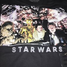New Star Wars Mens T Shirt Large The Empire Strikes Back Han Solo Leia Chewbacca