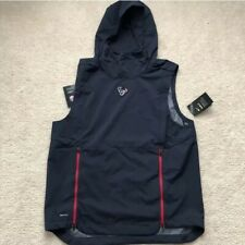 Nike Men's Houston Texans Pullover Hooded Performance Vest Sz. L NEW 906394-469
