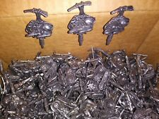 Vintage Western Pewter Hat Pin with Pick, Rope, Hat, Boots & Flower, Lot of 325