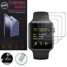 3x Vidrio Protección Para Reloj de Apple 42mm/Edition 42mm Cristal real