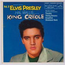 ELVIS PRESLEY: King Creole Vol 2 RCA Orig NM-  EPA-4321 45 w/ PS Superb!