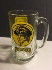 Vintage retro PITTSBURGH PIRATES GLASS BEER MUG SODA BASEBALL