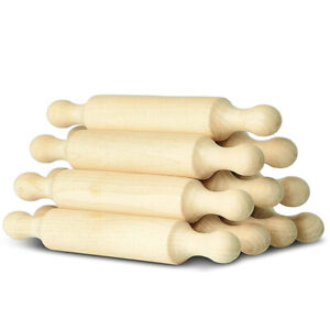 Wooden Mini Rolling Pin 6 Inches Long Kitchen Baking Rolling Pin Small WoodWoode