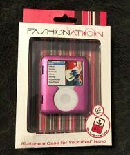 Fashionation Alum Case~3rd Gen IPOD Nano~Purple New