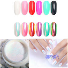 Unicorn Neon Rainbow Mirror AB Chrome Effect Mermaid Nail Art Powder + brush