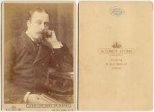 PRINCE LEOPOLD DUKE OF ALBANY QUEEN VICTORIAS 4TH SON BASSANO LONDON CAB PHOTO