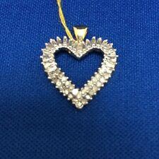 Ladies 10K Heartshape Diamond Pendant,1.0Ctw,(XPV1516/2426)
