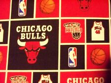 CHICAGO BULLS NBA BASKETBALL LICENSED COTTON FABRIC FQ