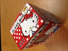 New Red Hello Kitty Glass Mug Cup Original Japan Sanrio
