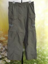 COLUMBIA PFG Lt Green Elastic Zip-Off Convertible Nylon Omni-Shade Pants 34x26