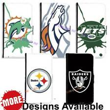 American Football Sports Team PU Leather Wallet Case for Samsung Galaxy Phone