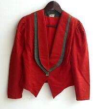 Damen Trachten Janker Jacke rot grün Gr. 38