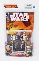 Clone Trooper Lieutenant & Clone Trooper Comic Pack Star Wars 2010 Unopened!