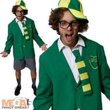 Uniforme escolar Boy Men's vestido elegante adultos Stag Fiesta Disfraz Traje + Sombrero