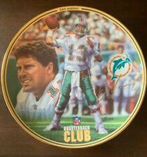 Dan Marino Bradford Exchange collector's Plate QB Club Miami Dolphins NO COA
