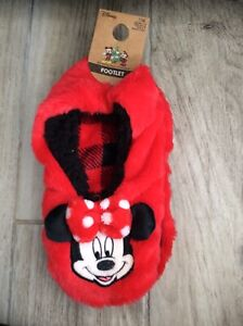 Disney Minnie Mouse Slippers Ladies Size 3-5 New With Tags
