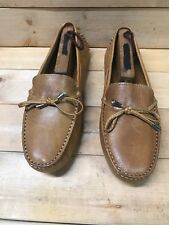 2a3dc61980c Mercanti Fiorentini Womens 3200 String Tie driving loafers color desert  Size 9.5