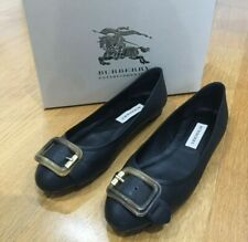 NEW Burberry Ladies Black Trench Buckle Ballerina Flats - Size 40 EU - 7 UK