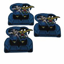 "Batman and Robin in Batmobile 3 1/2"" Tall Embroidered Iron on Patch Set of 3"