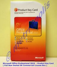 MICROSOFT OFFICE PROFESSIONAL 2010 for 1 PC - New Sealed Boxed ( 269-14834 )