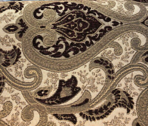 Monte Cristo Wine Chenille Damask Upholstery Fabric By The Yard