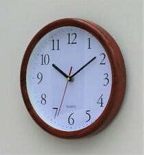 Red Wall Clock Kitchen School Office Home Shabby Chic Decor Quartz 25cm Rustic