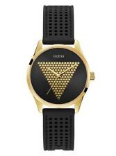 BEAUTIFUL NEW GUESS U1227L2  Black And Gold-Tone Analog Watch