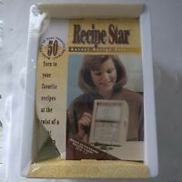 """Vintage NOS Recipe Star Rotary Recipe File Holds 50 Recipe Cards 3 1/2"""" x 5"""""""