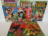 TARZAN set of 7 ( 1,2,3,4,5)  Marvel NM 1977  Tight & Glossy  GUIDES $ 68