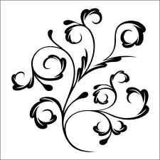 Floral Swirls 7 Vinyl Decal