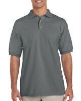 CHARCOAL MENS POLO SHIRT, Gildan Ultra Cotton Pique Top - BEST PRICE ON EBAY