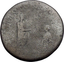 HADRIAN as Restorer of Gaul Sestertius RESTITVTORI GALLIAE Roman Coin i49178