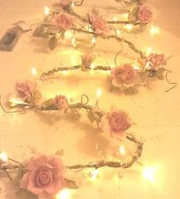 Lighted Dried & Artificial Flower Garlands