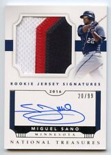 2016 NATIONAL TREASURES MIGUEL SANO ROOKIE JERSEY SIGNATURES AUTOGRAPH 20/99