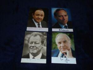 Willy Brandt - Helmut Kohl etc -  Autogramme - Autograph - signiert
