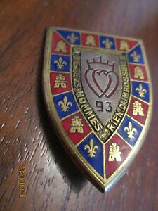 bel insigne 93° Régiment d'Infanterie, émail, déposé