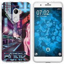 Case für HTC One X10 Silikon-Hülle Retro Wave Cyberpunk.01 M4 + 2 Schutzfolien